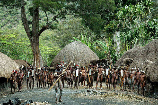 The Dani warriors of Papua.