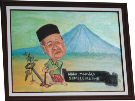 Mbah Maridjan and the volcano.